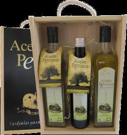 Aceite Periana - Premium-Olivenöl - Holzkiste No.4
